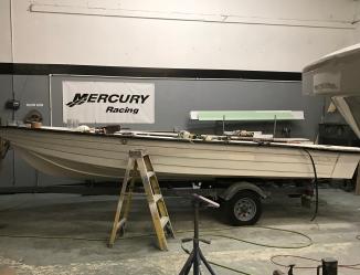 paint boat paint fiberglass repair