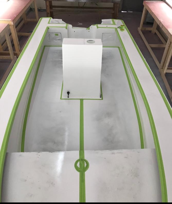 fiberglass repairs paint boat painting