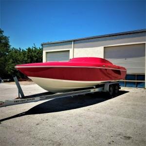 Florida, boat painting, custom boat, donzi, fast boat