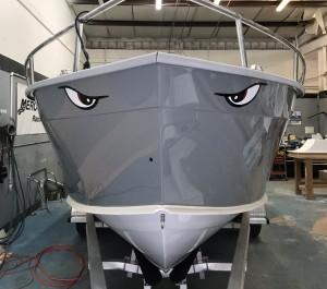 boat painting, chris brand, restore, restoration, custom, cape horn,