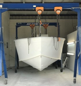 boat painting. boat paint, chris brand awlgrip