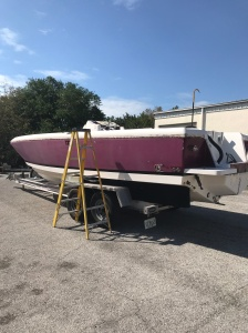 intrepid, awlgrip, restore, boat painting,